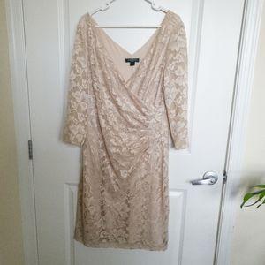 Lauren Ralph Lauren Lace Wrap Dress